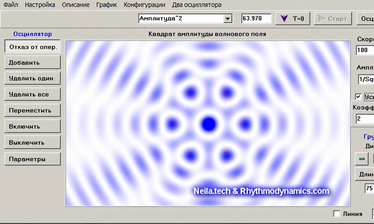 Software for research in the field of acoustics, electrodynamics and quantum mechanics